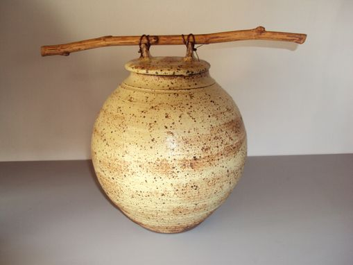 Custom Made Wheel Thrown Ceramic Covered Jar,