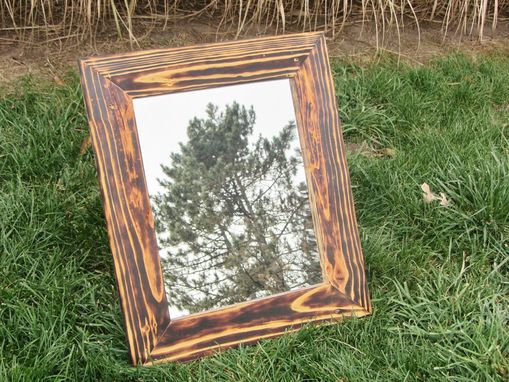 Custom Made Mirror 23x27 With Wood Frame - Any Size Available - Made From Reclaimed Wood Pallets