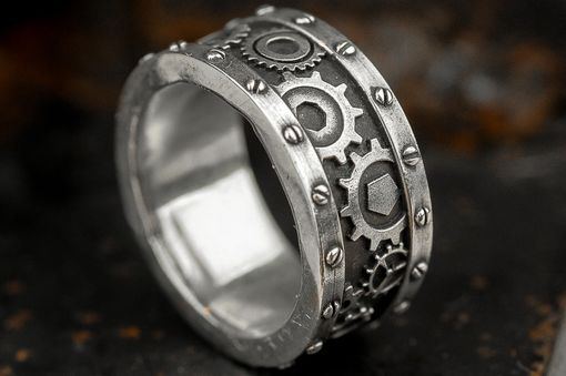 Custom Made Steampunk Industrial Gear Ring