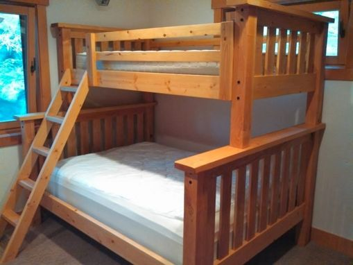 Custom Made Back To The Mountain Twin Over Full Size Craftsman Bunk Bed - Douglas Fir