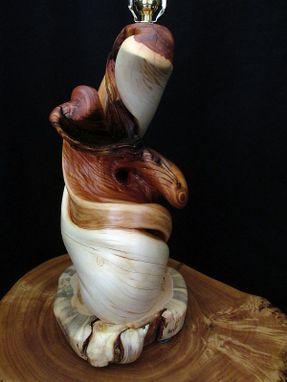 Custom Made Twisted Juniper Wood Table Lamp Rustic Home