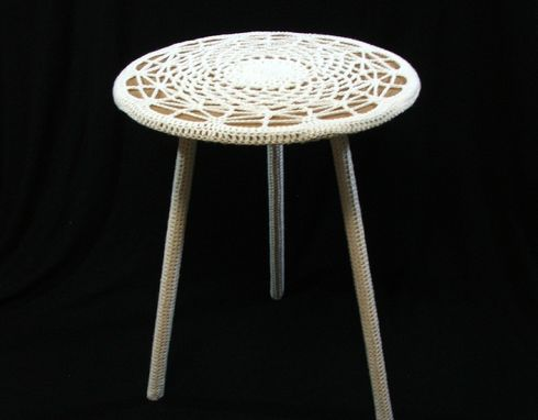 Custom Made Yarnoxidized-Doily Accent Table With Free Shipping