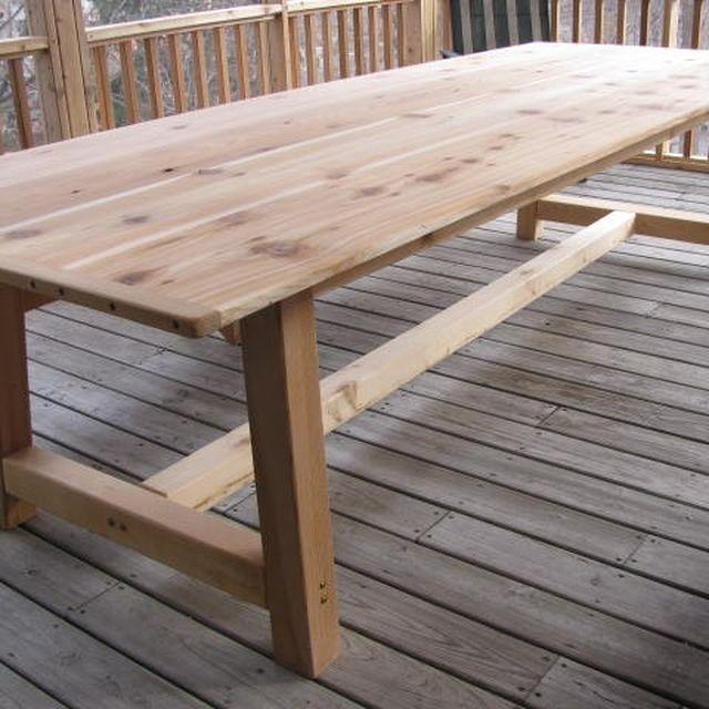 Handmade Large Outdoor Dining Table Cedar By Jeffbuildsfurniture Custommade