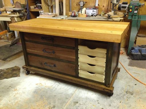 Custom Made Work Bench Tool Crib