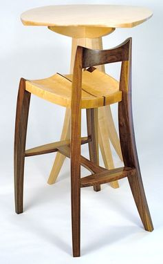 Custom Made Satori Bar Stool In Walnut And Birds-Eye Maple