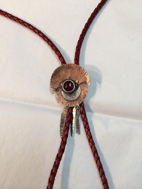Custom Made Bolo Tie In Copper And Sterling Silver