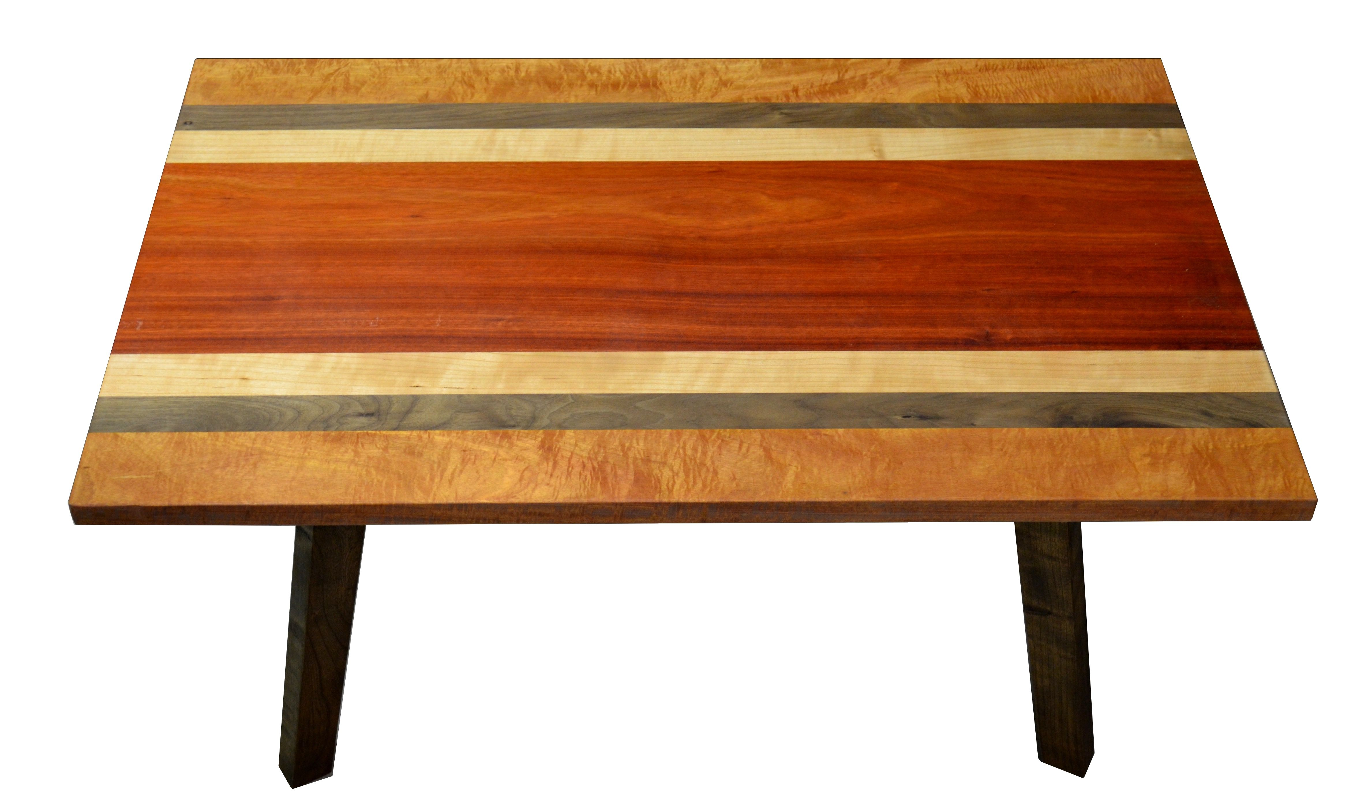 Buy A Custom Made Modern Table Mixed Wood Table Figured