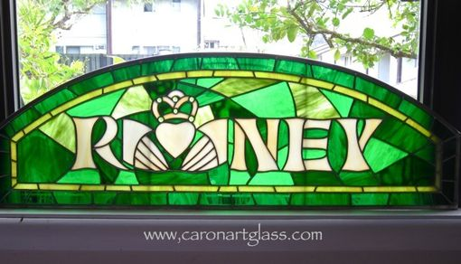 Custom Made Stained Glass Panel - Family Name