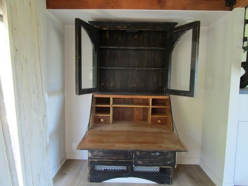 Custom Made Bookcase Desk Made From Reclaimed Wood In The Usa