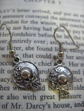Custom Made Sale Fanciful Hat Earrings Inspired By Jane Austen, Thanks For Price And Prejudice