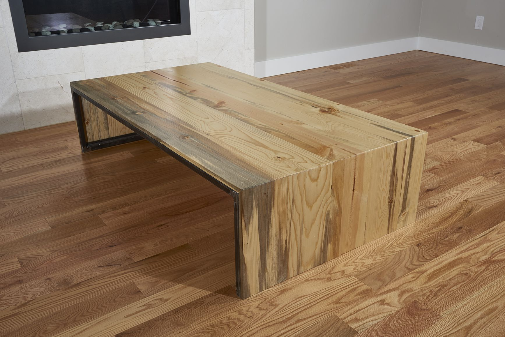 Hand Made Waterfall Beetle Kill Table By Purpose And Pine
