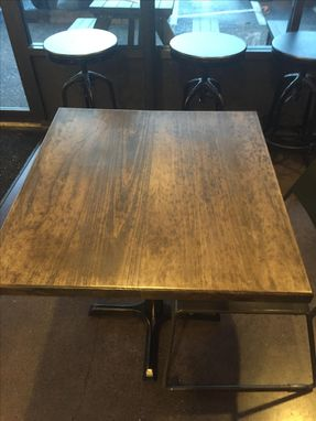 Custom Made Restaurant Tables With Metal Bases