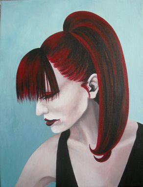 Custom Made Smoulder-Acrylic On Canvas Portrait Of A Woman