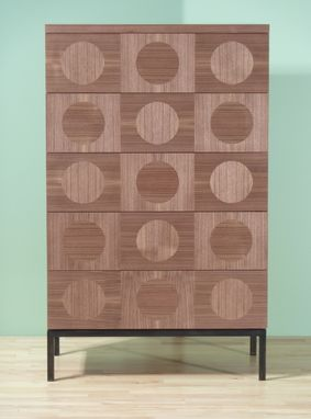 Custom Made Circle Inlay Dresser / Credenza / Armoire
