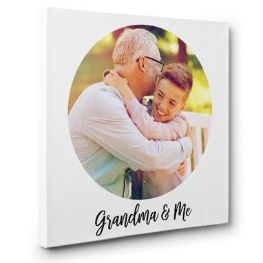 Custom Made Personalized Grandpa Portrait Custom Photo Canvas Art