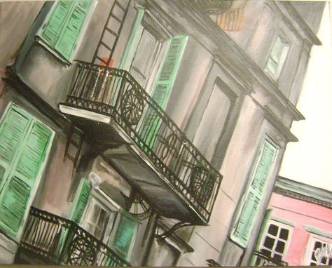 Custom Made Acrylic Painting Of New Orleans