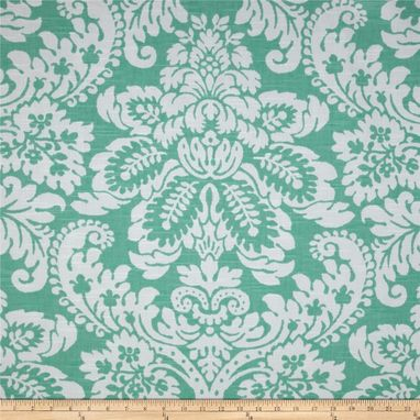 "Custom Made Custom Designer Draperies: P Kaufmann Julian Damask Apple Green Slub Linen 108""L X 50""W"