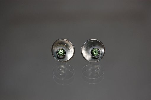 Custom Made Stud Earrings With Faceted Stones