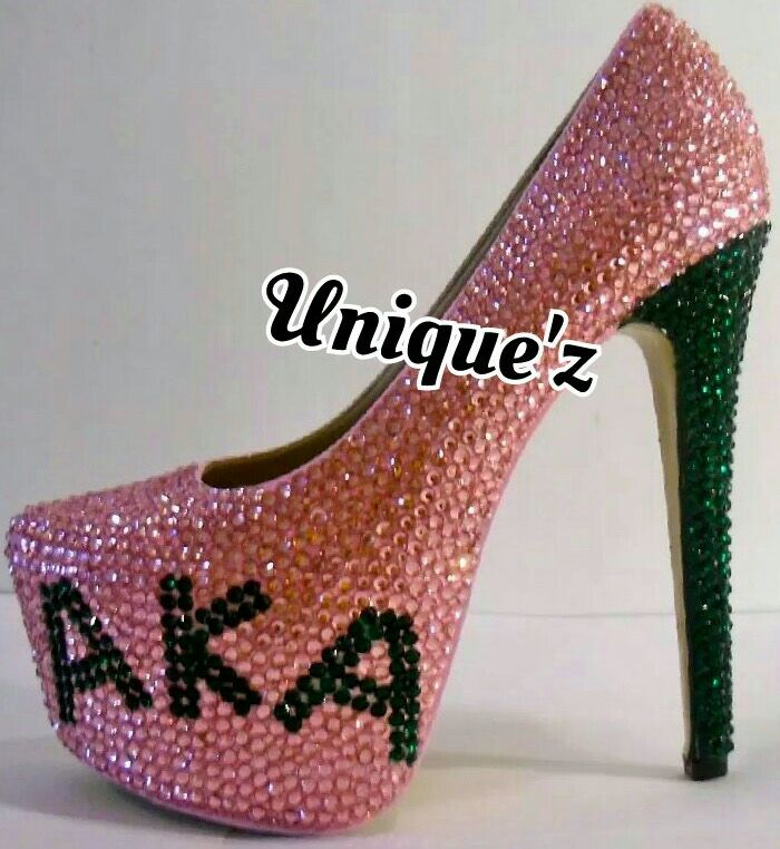 Buy Hand Made Alpha Kappa Alpha Heels (Sorority Pumps), made to ...
