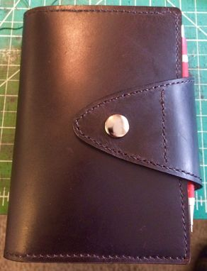 Custom Made Checkbook Wallet Horse Hide, French Calf And Goatskin