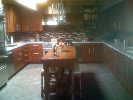 Custom Made Rosewood Kitchen Cabinets