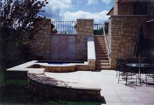 Custom Made Private Residence Stone Entrance & Exterior Veneer