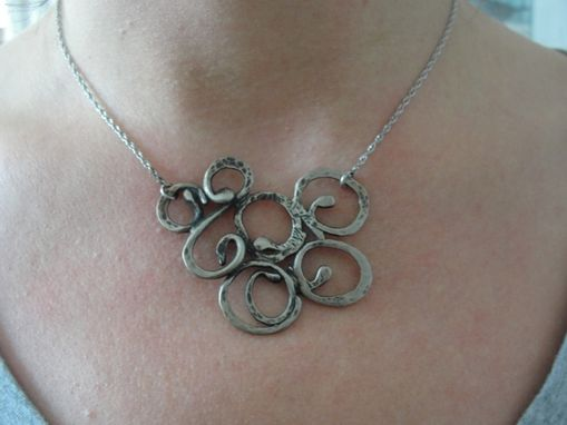 Custom Made Silver Calder Scroll Necklace