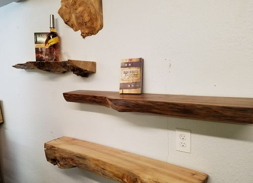 Custom Made Whiskey Shelves - Live Edge