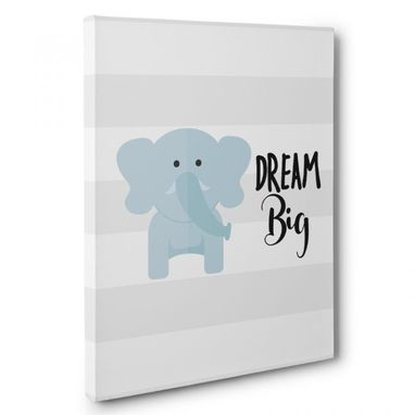 Custom Made Dream Big Nursery Canvas Wall Art