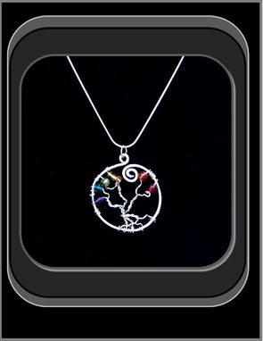 Custom Made Tree Of Life Chakra/Rainbow Necklace!