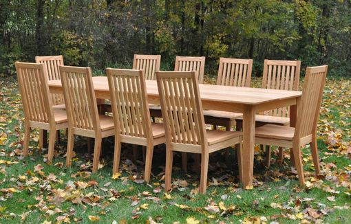 Custom Made Large Country Dining Set (11 Pc)