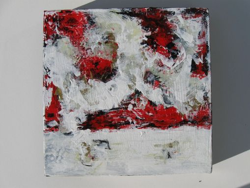 Custom Made Red Abstract Original Acrylic Painting On Canvas