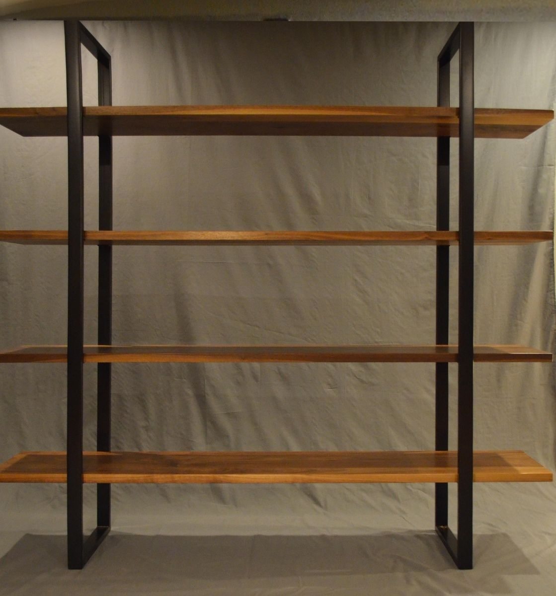 Handmade Floating Walnut And Steel Bookcase By Fabitecture Custommade