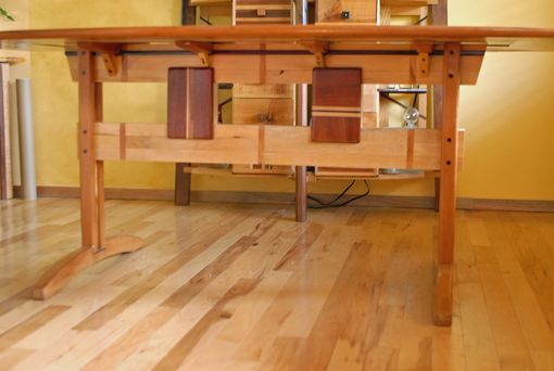 Custom Made Trestle Dining Room Table In Koa And Spanish Cedar