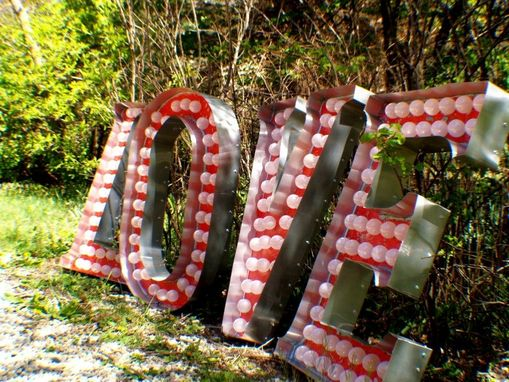 Custom Made Love 3ftx2ft Vintage Marquee Art Letter Smash Style Deluxe 2 Channel