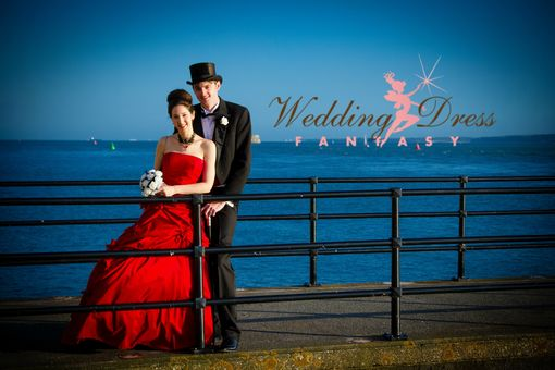 Custom Made Red Wedding Gown