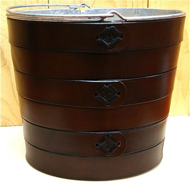 Custom Made Handmade Leather Covered Bucket