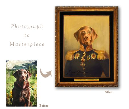Custom Made Custom Historical Pet Portrait On Rolled Canvas