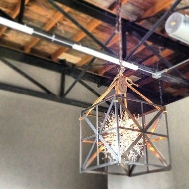 Custom Made Custom Welded Light Fixture | Exile Brewing Co.