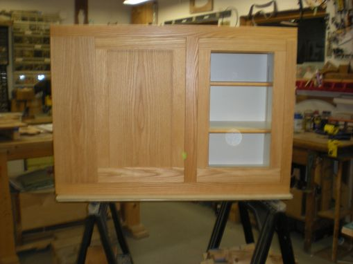 Custom Made Red Oak Kitchen Cabinets