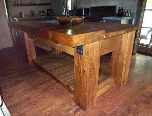 Custom Made Tuscan Kitchen Island