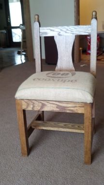Custom Made Oak Chair
