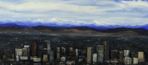 Custom Made Denver Skyline-Snowboard Landscape