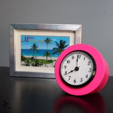 Custom Made Desk Clock From Airplane Piston