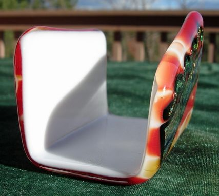 Custom Made Custom Fused Glass Desk Accessories