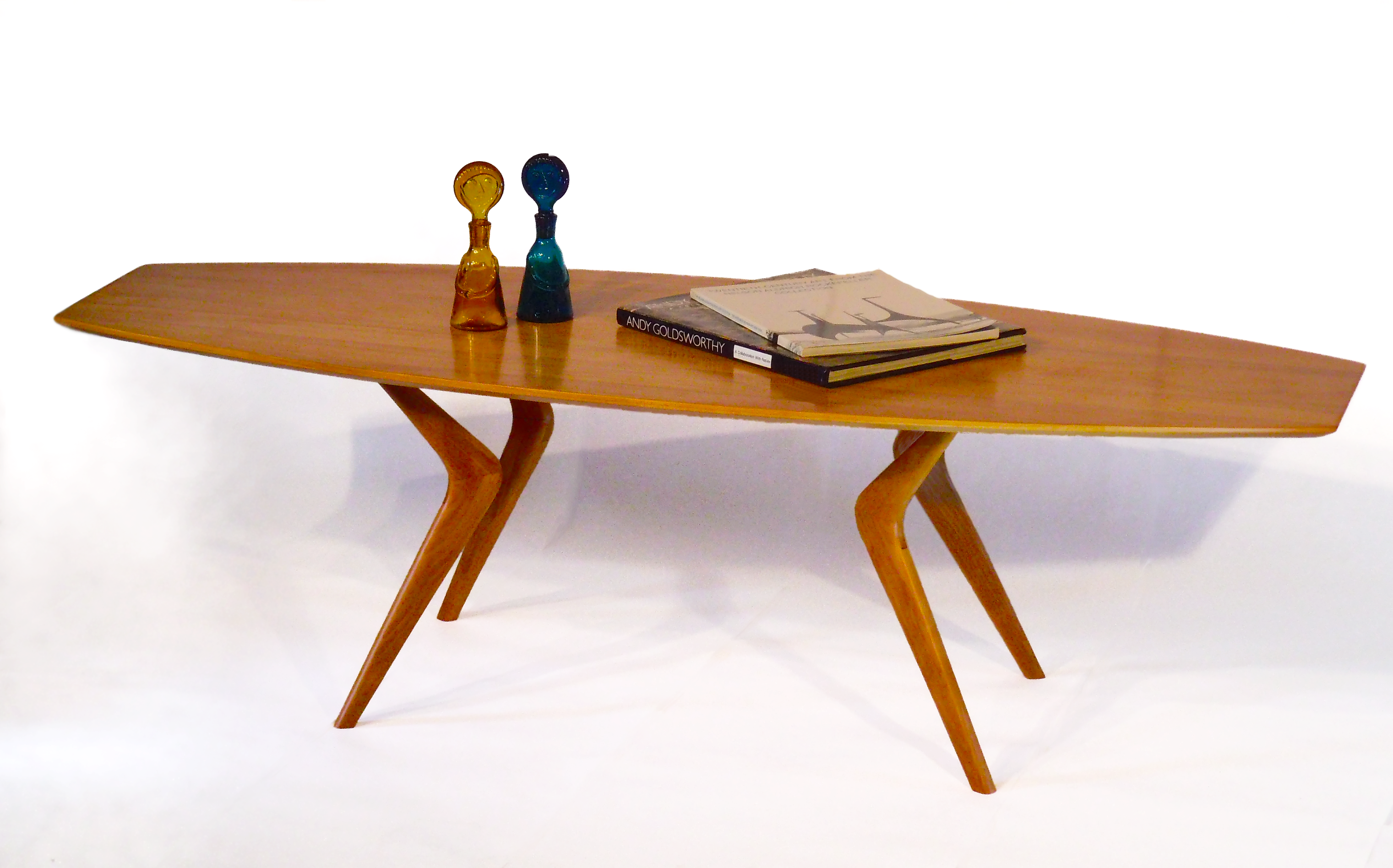 Buy a Hand Made Modern Coffee Table Boomerang Leg Design With