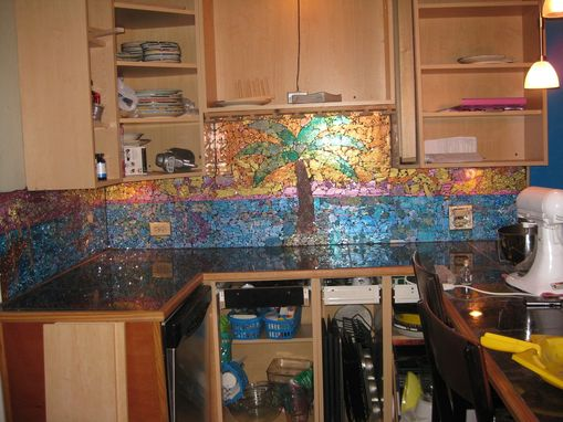 Custom Made Glass Mosaic Backsplash