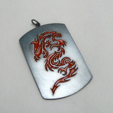 Custom Made Red Dragon Kenpo Inspired Pendant In Oxidized Sterling Silver By Cristina Hurley