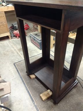 Custom Made Red Oak And Steel Pulpit