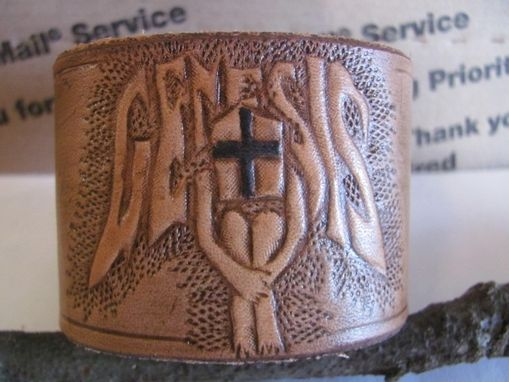 Custom Made Your Logo Or Design On A Leather Wrist Cuff